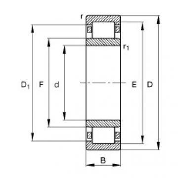 FAG Rolamento de rolos cilíndricos - NU2211-E-XL-TVP2