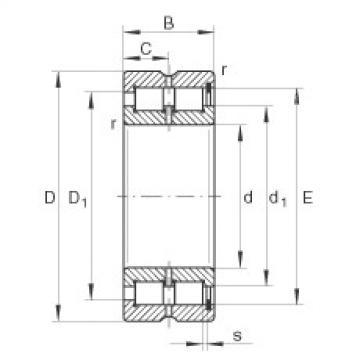 FAG Rolamento de rolos cilíndricos - SL185040-TB