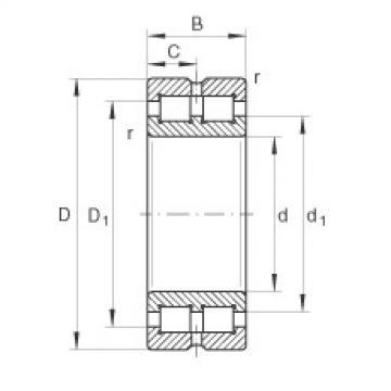 FAG Rolamento de rolos cilíndricos - SL014940