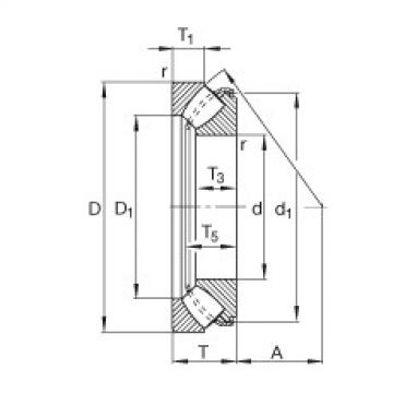 FAG Rolamentos axiais autocompensadores de rolos - 29340-E1-XL