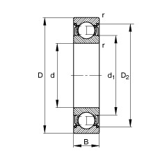 FAG Rolamento de esferas - S696-2Z