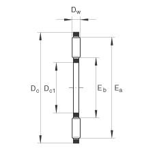 FAG Rolamento axial de agulhas - TC512