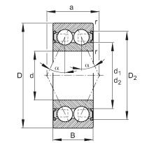 FAG Rolamento angular - 30/6-B-2RSR-TVH