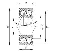 FAG Rolamento angular - 30/8-B-2Z-TVH