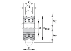 FAG Rolamentos de rolos perfilados - LFR50/8-6-2Z