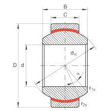 FAG Rótulas radiais - GE6-FW