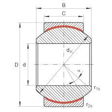 FAG Rótulas radiais - GE6-PW