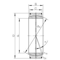 FAG Rótulas radiais - GE6-DO