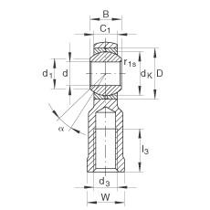 FAG Cabeças articuladas - GIKR6-PB