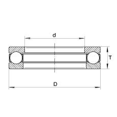 FAG Rolamento axial de esferas - W1/4