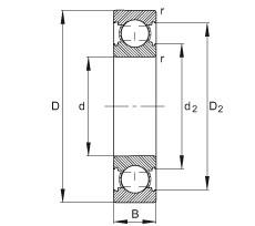 FAG Rolamento de esferas - 629-C