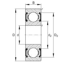 FAG Rolamento de esferas - 629-C-2BRS